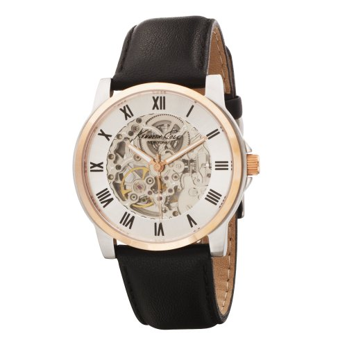 Kenneth Cole New York Men's KC1516 Automatic Black Leather Strap Watch