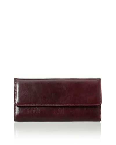 Rowallan of Scotland Women's Violetta Tri-Fold Wallet, Burgundy