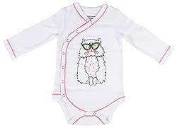 Lil Penguin Baby Boys' Cotton Romper (LP03B5, Pink, 3-6 Months)