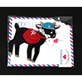 *バースデーカード やぎの郵便屋さん/黒やぎさん hc-1000040007 お誕生祝い APJ/アートプリントジャパン