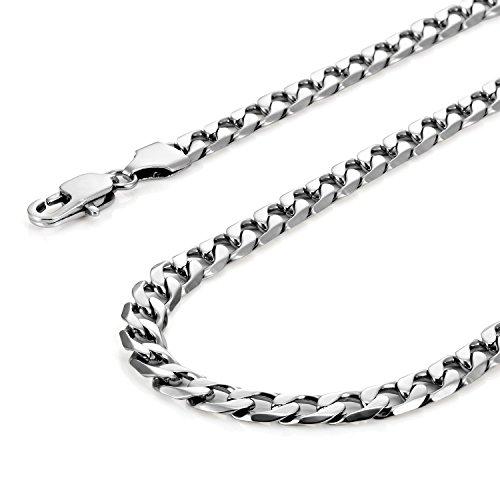 collier classique pour hommes acier inoxydable 316l cha ne couleur argent 45 54 59 cm 6mm. Black Bedroom Furniture Sets. Home Design Ideas