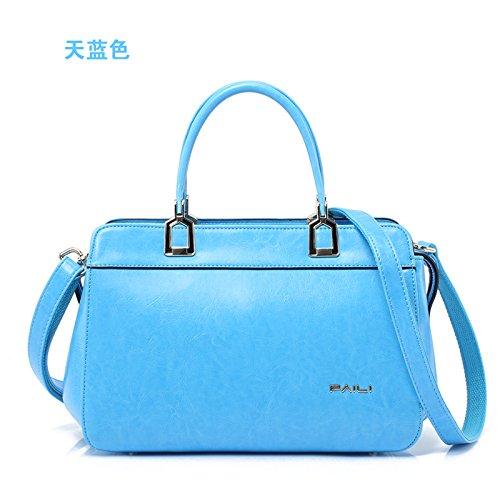 Borsa Paili 2016 nuovo originale moda donna semplice baodan mobile borsa a tracolla donne ala borsa borse borse bat,blu cielo