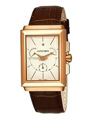 Azzaro Men's AZ2061.53AH.000 Legend Rectangular Chrono RectangularWhite Face Rose PVD Watch Watch