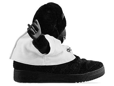 Adidas Jeremy Scott Gorilla - Black / Black / Black, 10.5 D US