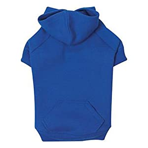 Zack & Zoey Polyester/Cotton Basic Dog Hoodie, Medium, 16-Inch, Nautical Blue