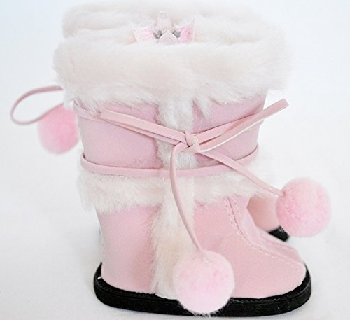 Pink Suede Boots For American Girl Dolls