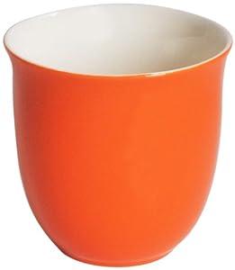 Canton Tea Ceramic Teacups Carrot, Set of 4