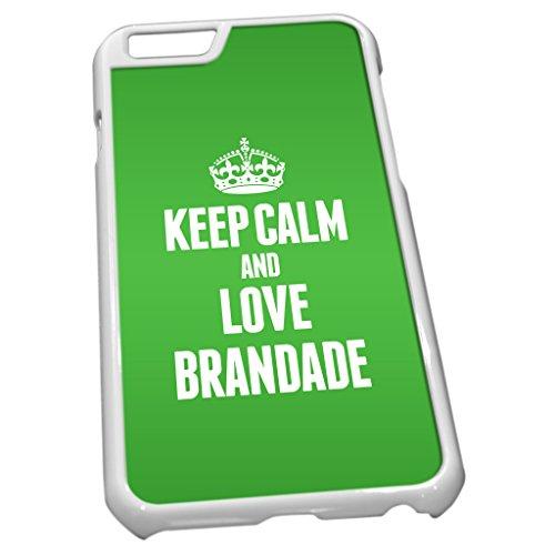 Blanc Coque pour iPhone 60855Vert Keep Calm and Love brandade de Morue