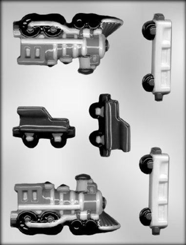 CK Products 4-1/2-Inch 3-D Train Engine and Railcars Chocolate Mold