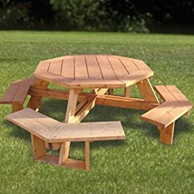free octagon picnic table plans with umbrella hole | Best Woodworking ...