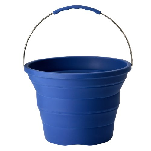 Infusion Living Collapsible Bucket, Stainless Steel and Silicone, 2-Gallon Capacity (Ice Car Wash compare prices)