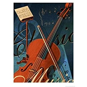 Classical Music Montage Art Giclee Poster Print by Dynamic Graphics