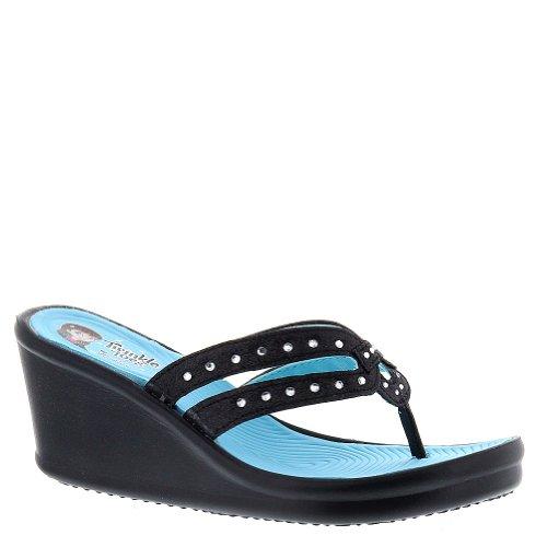 Skechers Twinkle Toes-Rumblers Girls' Toddler-Youth Sandal 12 M Us Little Kid Black-Blue