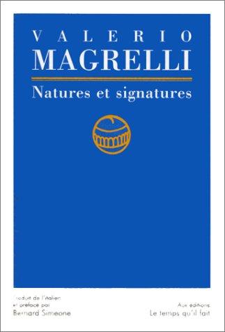 Natures et signatures
