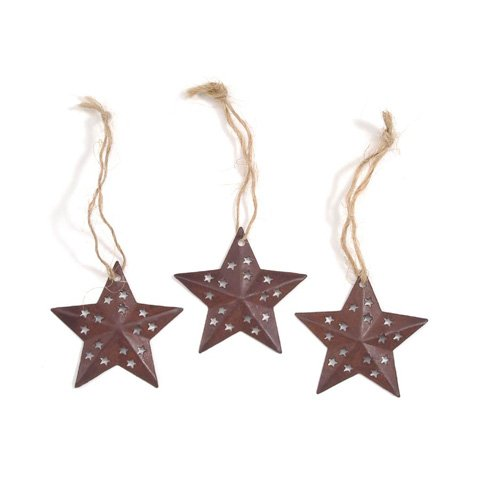 Ornaments - Rustic Star - 1.5 inches - 3 pieces