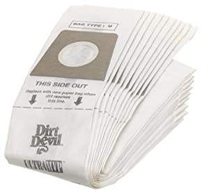 Low Price Dirt Devil Type U Vacuum Cleaner Bags  10-Pack