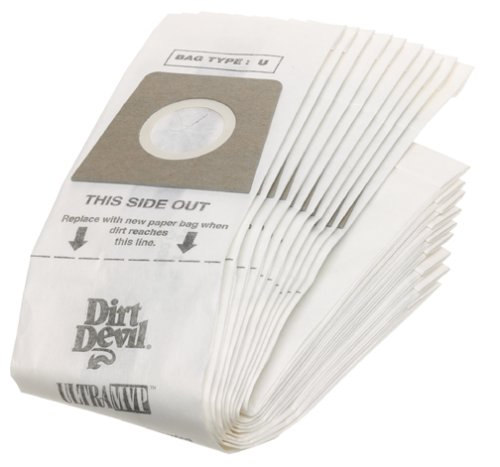 Dirt Devil Type U Vacuum Cleaner Bags, 10-Pack