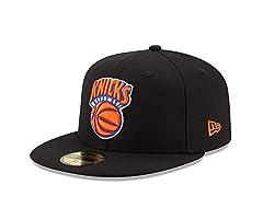 NBA New York Knicks Hardwood Classics Basic 59FIFTY Fitted Cap, 7, Black