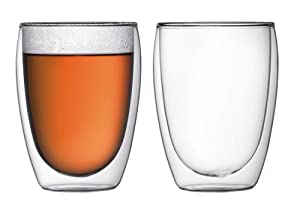 Bodum Pavina 12-Ounce Double-Wall Thermo Cooler/Beer Glass, Set of 2