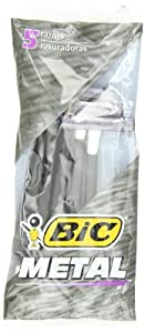 Bic Metal Shaver, Five Count Packages (Pack of 6)