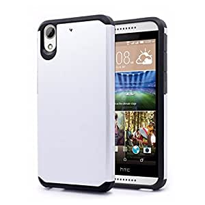 Zizo Cell Phone Case for HTC Desire 626a - Retail Packaging - Black/Silver