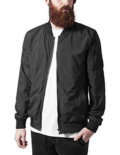 Urban Classics Light Bomber Jacket, Giacca Uomo, Nero (Black 7), Small