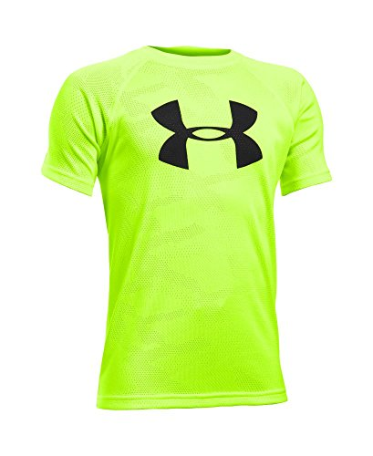 Under Armour Boys' Novelty Big Logo T-Shirt, Fuel Green (366), Youth Small