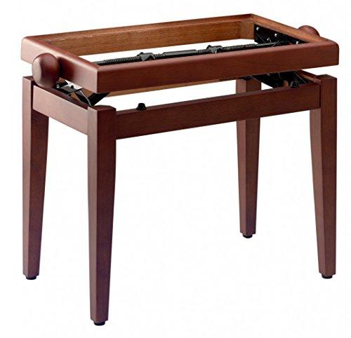 Stagg 20200 Modell PB 45 Kirsch Klavierbank (Sitzflächengröße: 55x 32 cm, Höhenverstellbar: 46-55 cm, austauschbare Sitzauflage) matt
