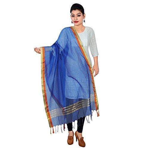 Alpna's Fabtex Blue Full Length Casualwear Cotton Banarasi Dupatta