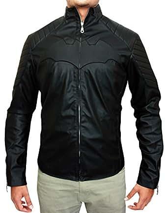 BontonWear - Batman Begins Christian Bale Men's Jacket (Real Leather XS)
