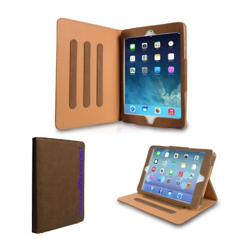 Caseflex Ipad Mini 2 Case Brown Pu Leather Stand Cover With Sleep / Wake Function