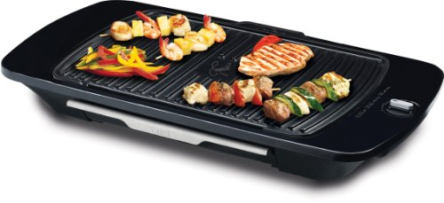 Emeril by T-fal, CB653062 Gourmet Griller with Removable Nonstick Die-cast Aluminum Grill Plate, Silver