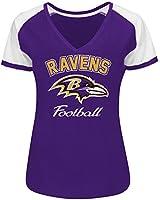 NFL Dynamic Defense Women's Raglan V-Neck Tee