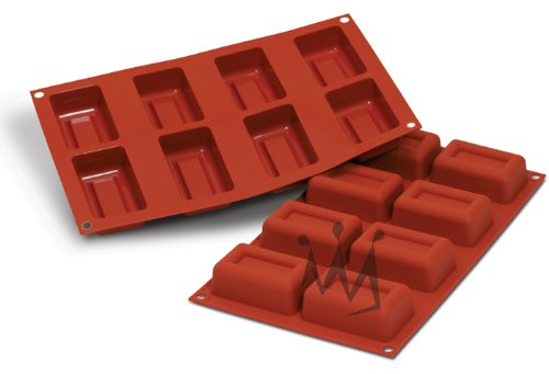 Flexible Silicone Bakeware: Ingot 2.4 Oz, 2.93