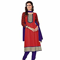 Ashika Printed Salwar Suit Dupatta (Unstitched) Dress Material (8545)