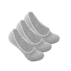 Supersox Mens Pack of 3 Invisible plain combed cotton socks