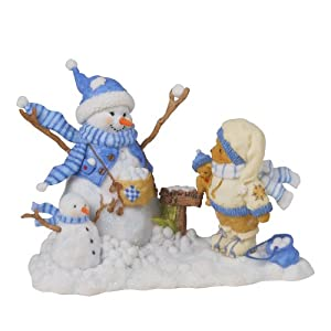 Enesco Cherished Teddies Collection Bear and Snowman Figurine