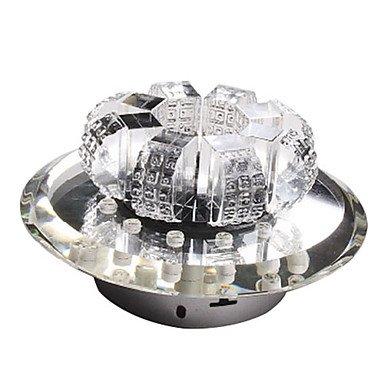 Led Crystal Flush Mount, 1 Light, Modern Minimalist Bronze