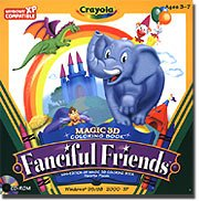 Encore Software Crayola Magic 3D Coloring Book Friends Pages Leap To Life In 3D