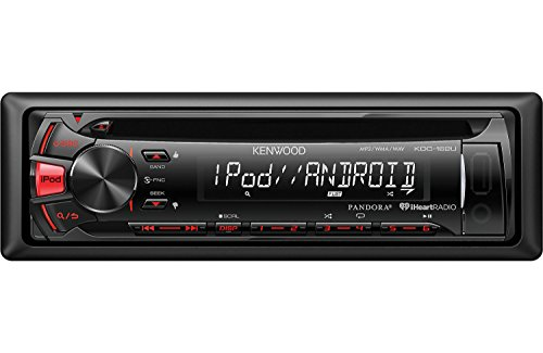 Kenwood KDC-162U Car CD/MP3 Player - 88 W RMS - iPod/iPhone Compatible - Single DIN KDC162U (Car Stereo Unit compare prices)