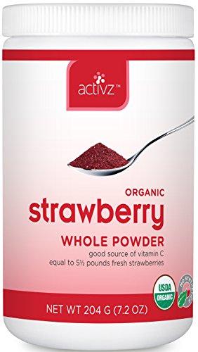 Activz - Organic Strawberry Whole Powder - 7.2 oz.