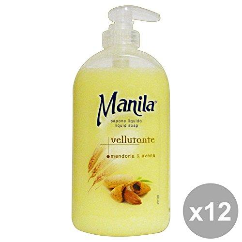 Set 12 ManiLA Sapone Liquido Vellutante MANDORLA 500 Ml. Saponi e cosmetici