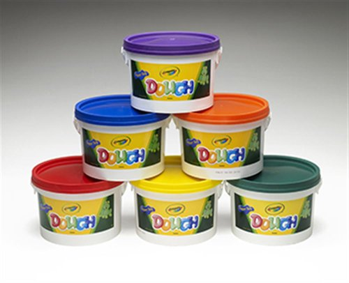 CRAYOLA DOUGH SET OF 6 TUBS RED