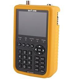 SATlink WS-6909 3.5 - Inch DVB-SandDVB-T Combo Satellite Signal Finder Meter