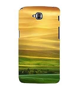 PrintVisa Yellow And Green Scenic Design 3D Hard Polycarbonate Designer Back Case Cover for LG Gpro Lite