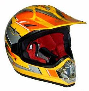 Youth Kids DOT Approved Motorcross ATV Dirt Bike Helmet Yellow Extra Large