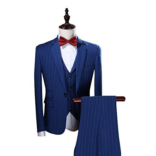 Mens-Modern-Vertical-Stripe-3-Piece-Suit-Slim-Fit-Elegant-Tuxedo-Royal-blue-Suit