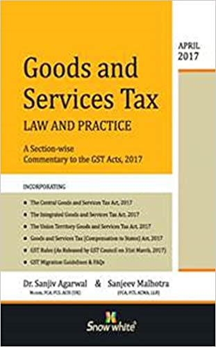 Goods and Service Tax Law and Practice