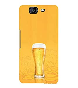 EPICCASE Beer Glass Mobile Back Case Cover For Micromax Canvas Knight A350 (Designer Case)