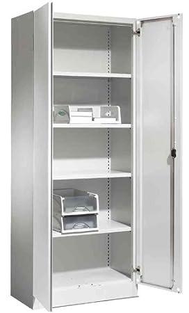 SCHŽFER Armoire de bureau (L)1200 x (P)425 x (H)1950 mm,gris